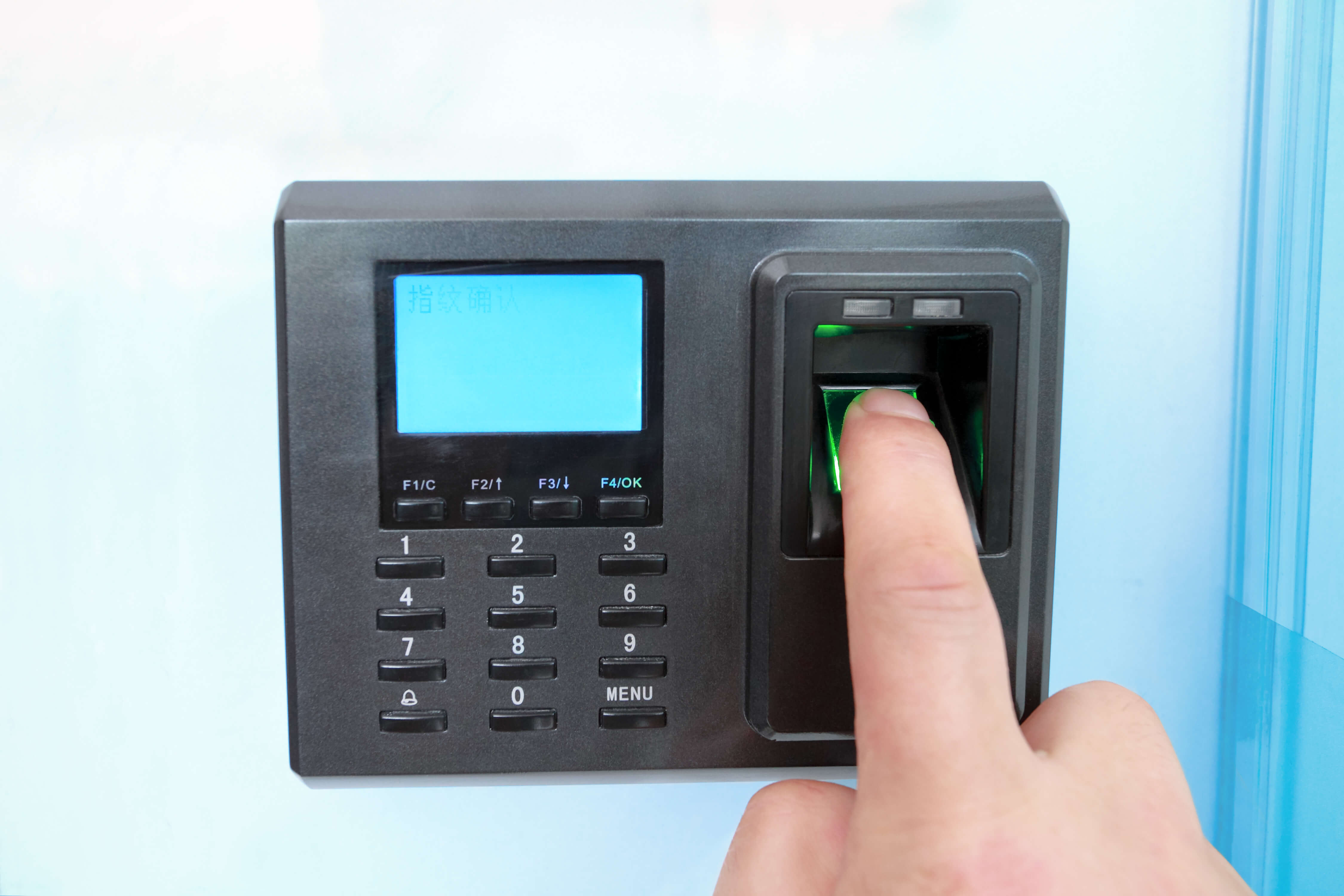 fingerprint scanner entry system